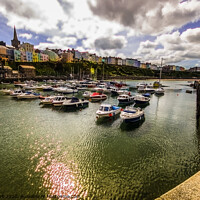 Buy canvas prints of A View from Tenby Harbour by Paddy Art