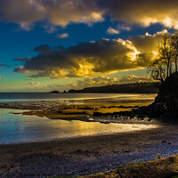 Buy canvas prints of Evening Over Monkstone Point from Coppet Hall Beach. by Paddy Art
