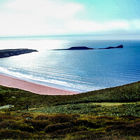 Buy canvas prints of Walking to Rhossili - Gower Peninsula by Paddy Art