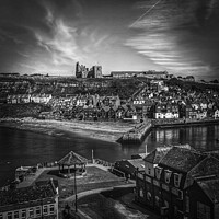 Buy canvas prints of Whitby fishing port in North Yorkshire, famous for its Gothic connections by Michael Shannon