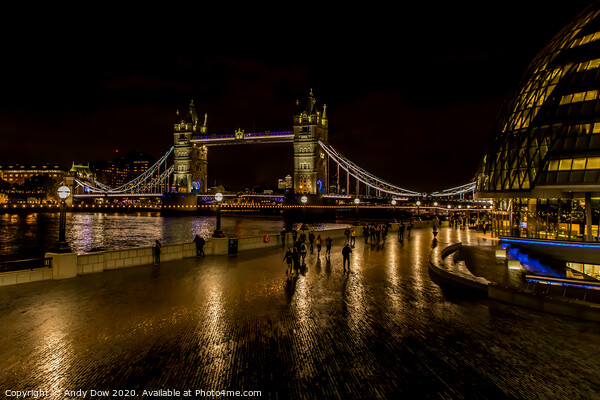 Tower Bridge, London Canvas Print by Andy Dow