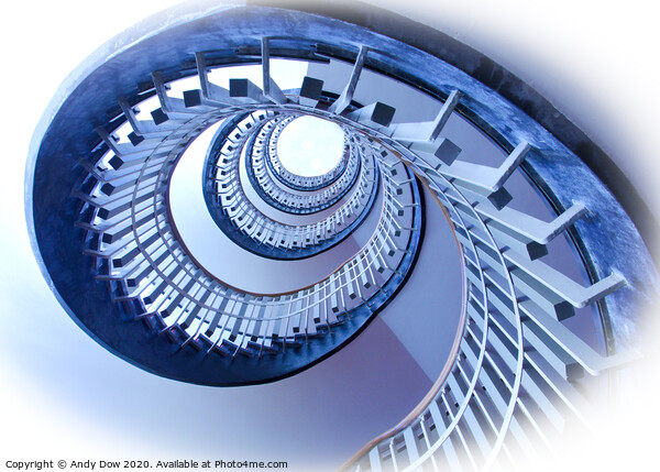 Spiral staircase to the sky Canvas Print by Andy Dow