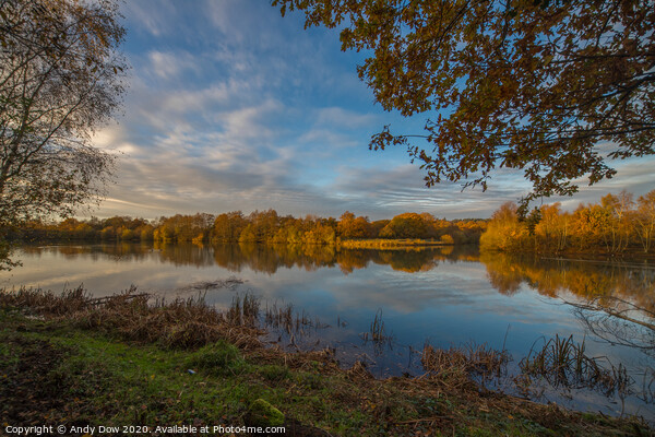 Tranquil afternoon, Finchampstead, Hampshire Canvas Print by Andy Dow