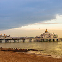 Buy canvas prints of Storm clouds over Eastbourne pier by Andy Dow