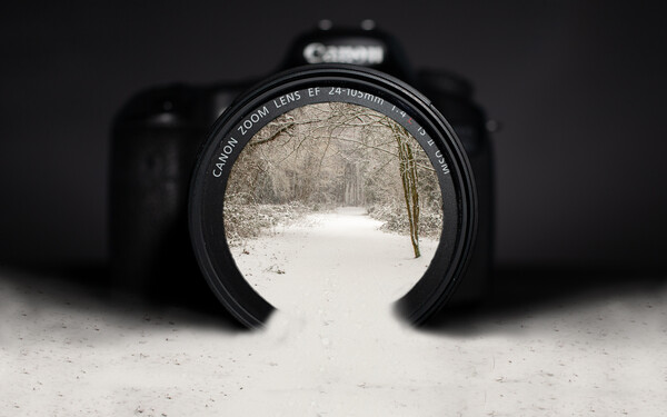 Winter through a camera lens Canvas Print by Andy Dow