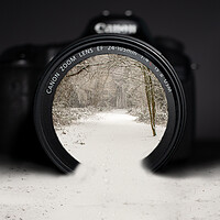 Buy canvas prints of Winter through a camera lens by Andy Dow