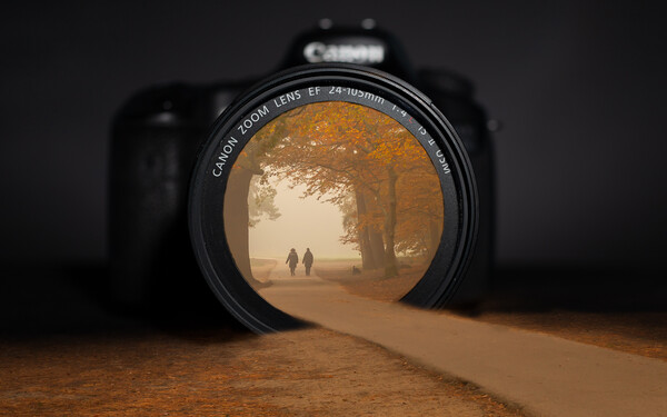 Autumn through a camera lens Canvas Print by Andy Dow