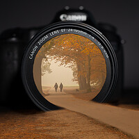 Buy canvas prints of Autumn through a camera lens by Andy Dow