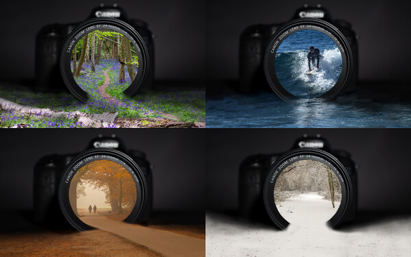 Four seasons, one lens  Canvas Print by Andy Dow