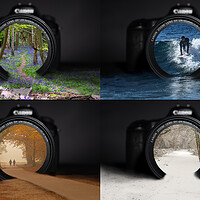 Buy canvas prints of Four seasons, one lens  by Andy Dow