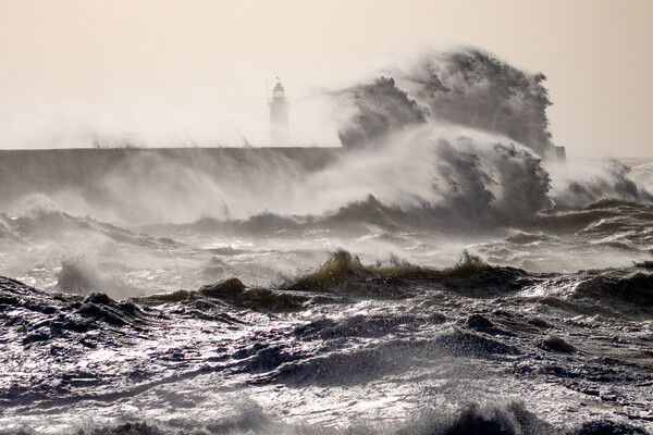 Storm at Newhaven Canvas Print by Andy Dow
