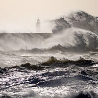 Buy canvas prints of Storm at Newhaven by Andy Dow