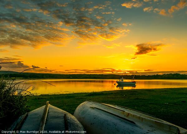 Bramble Bay Sunset Framed Print by Max Burridge
