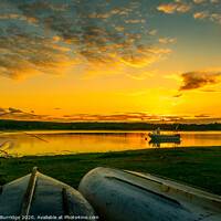 Buy canvas prints of Bramble Bay Sunset by Max Burridge