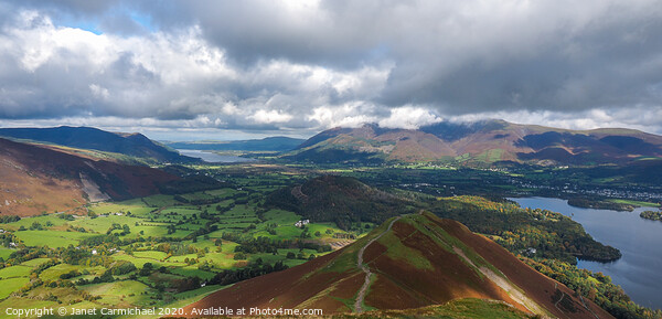 Catbells vista - Lake District Framed Mounted Print by Janet Carmichael