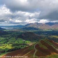Buy canvas prints of Catbells vista - Lake District by Janet Carmichael