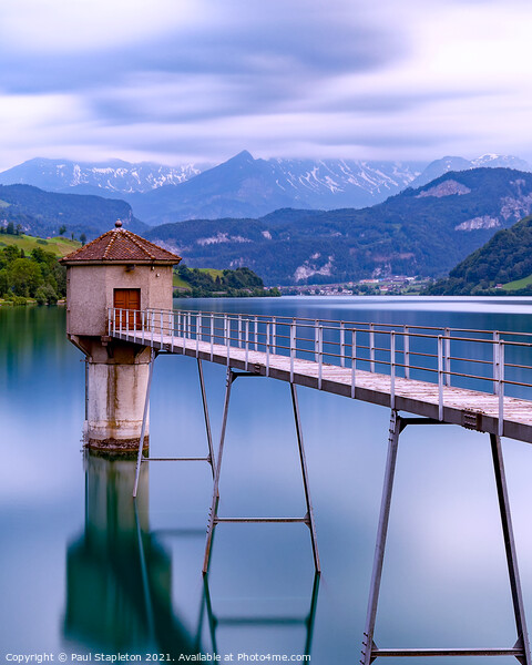 Lungern Lake Reservoir Acrylic by Paul Stapleton