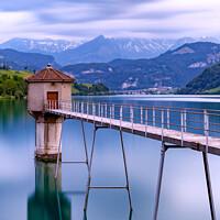 Buy canvas prints of Lungern Lake Reservoir by Paul Stapleton
