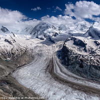 Buy canvas prints of Gorner Glacier by Paul Stapleton