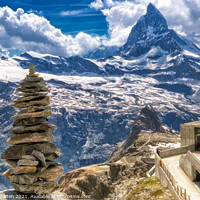 Buy canvas prints of Little & Large Matterhorn by Paul Stapleton