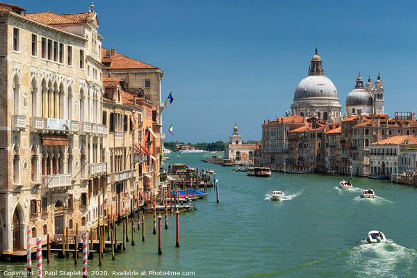 Grand Canal in Venice Canvas Print by Paul Stapleton