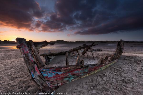 Crow Point Sunset Canvas Print by Paul Stapleton