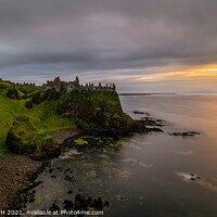 Buy canvas prints of Dunluce Castle, Co. Antrim Northern Ireland by KEN CARNWATH