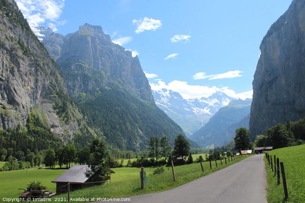 Beautiful Lauterbrunnen Valley, Switzerland Acrylic by Imladris