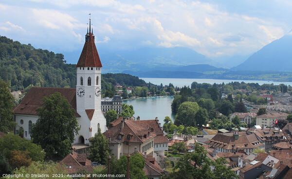 Panoramic city view, Thun, Switzerland Acrylic by Imladris