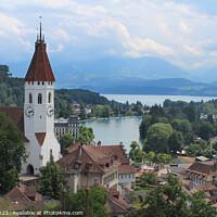 Buy canvas prints of Panoramic city view, Thun, Switzerland by Imladris