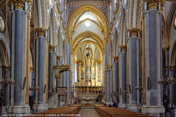 Chiesa di San Domenico Maggiore - Napoli Canvas Print by Laszlo Konya