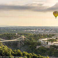Buy canvas prints of Hot Air Balloon over Clifton by Patrick Metcalfe