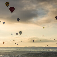 Buy canvas prints of Sunrise Mass Balloon Ascent over Bristol by Patrick Metcalfe