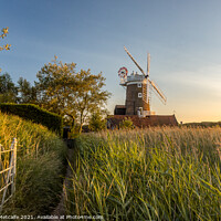 Buy canvas prints of Sunset at Cley Windmill by Patrick Metcalfe