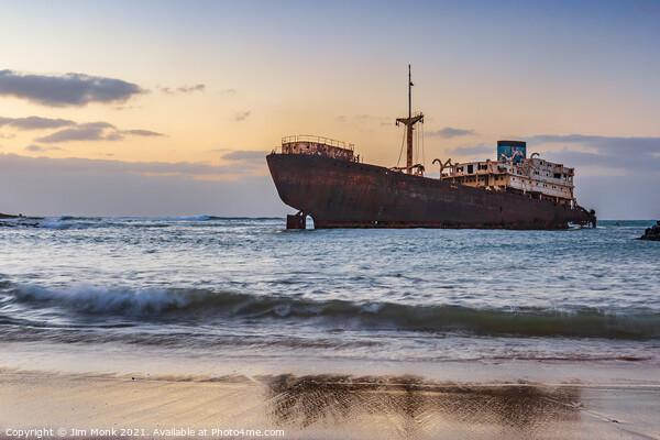 Lanzarote's Shipwreck Canvas Print by Jim Monk