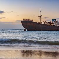 Buy canvas prints of Lanzarote's Shipwreck by Jim Monk