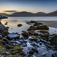 Buy canvas prints of Isle of Harris Sunrise by Jim Monk