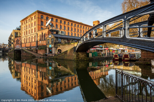 Camden Lock Reflections Print by Jim Monk