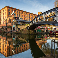 Buy canvas prints of Camden Lock Reflections by Jim Monk