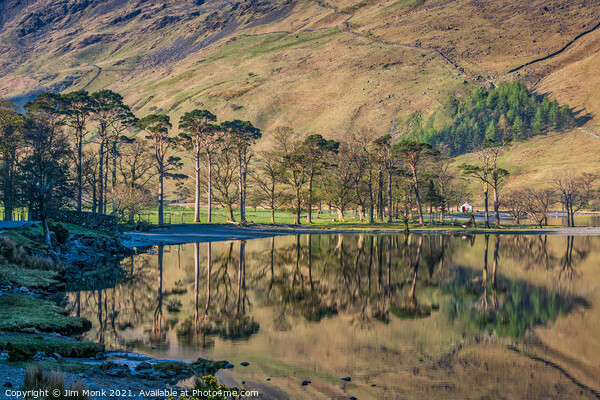 Buttermere Reflections Print by Jim Monk