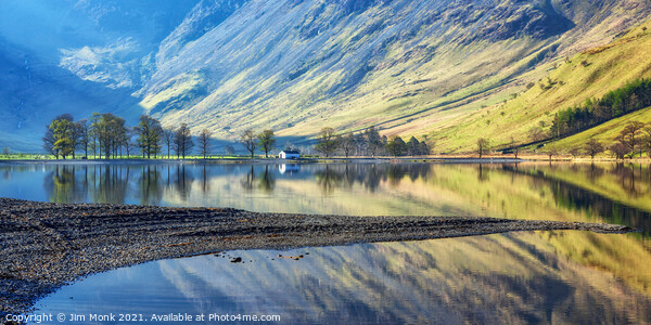 Morning Reflections at Buttermere Print by Jim Monk