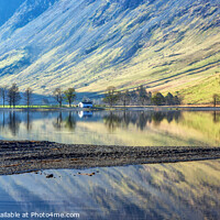 Buy canvas prints of Morning Reflections at Buttermere by Jim Monk