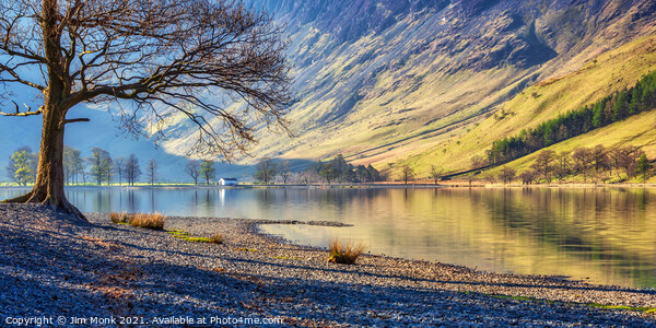 Buttermere Reflections, Lake District Print by Jim Monk