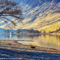 Buy canvas prints of Buttermere Reflections, Lake District by Jim Monk