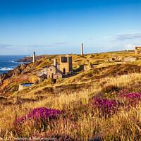Buy canvas prints of Levant Mine, Cornish Coast by Jim Monk