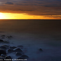 Buy canvas prints of Looking towards Lundy Island from the beach at Westward Ho!, North Devon, England, UK by Geraint Tellem ARPS