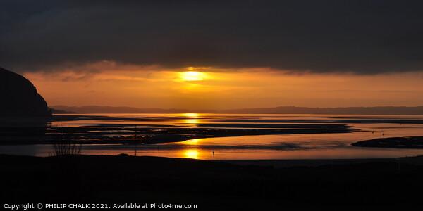 Llandudno sunset north Wales 490  Print by PHILIP CHALK