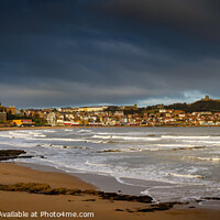 Buy canvas prints of Scarborough panoramic sea front on a stormy day 20 by PHILIP CHALK