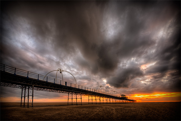 Southport Pier at Sunset - HDR Canvas print by Jeni Harney
