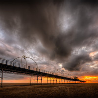 Buy canvas prints of Southport Pier at Sunset - HDR by Jeni Harney